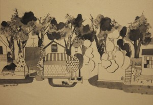 7. On my Way, ink on paper, 29.7x42cm