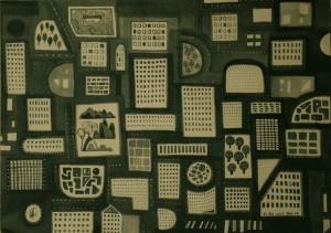20. Good Night, City, ink on paper, 28x40.8cm